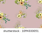 seamless delicate pattern of... | Shutterstock .eps vector #1094333051