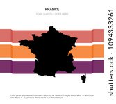france map with creative design ... | Shutterstock .eps vector #1094333261