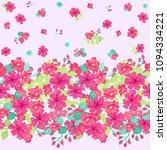 gorgeous border in small garden ... | Shutterstock . vector #1094334221