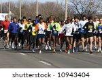 marathon start   forerunners.... | Shutterstock . vector #10943404