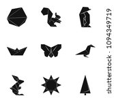 origami paper icons set. simple ... | Shutterstock .eps vector #1094349719