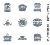 big burger logo set. simple set ... | Shutterstock .eps vector #1094349881