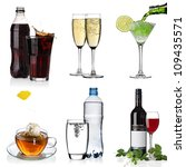 beverages collage with cola ... | Shutterstock . vector #109435571