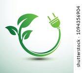 green eco power plug design...   Shutterstock .eps vector #1094356904