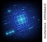 digital system banner poster...   Shutterstock .eps vector #1094366615