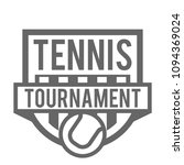 tennis tournament logo vector...   Shutterstock .eps vector #1094369024
