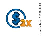 dollar doubled icon.... | Shutterstock .eps vector #1094370701