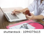 doctor to diagnose a disease... | Shutterstock . vector #1094375615