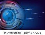 abstract global technology blue ... | Shutterstock .eps vector #1094377271