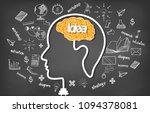 human brain head creativity... | Shutterstock .eps vector #1094378081