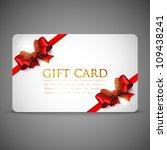 gift cards with red bows and... | Shutterstock .eps vector #109438241