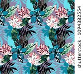 tropical paradise pattern with... | Shutterstock .eps vector #1094382554