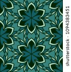 floral textile print. seamless... | Shutterstock .eps vector #1094383451
