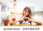 portrait attractive beautiful... | Shutterstock . vector #1094386109