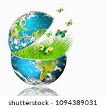 ecological concept of the... | Shutterstock . vector #1094389031