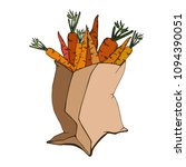 vector image of a paper bag for ... | Shutterstock .eps vector #1094390051