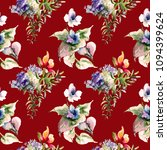 seamless pattern with wild... | Shutterstock . vector #1094399624