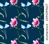 seamless wallpaper with spring...   Shutterstock . vector #1094399627