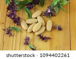 herbal tablet for good health | Shutterstock . vector #1094402261