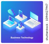 isometric flat electronic... | Shutterstock .eps vector #1094427947