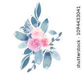 watercolor hand painted flower...   Shutterstock . vector #1094433041