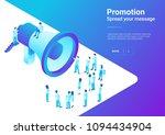 isometric flat loudspeaker... | Shutterstock .eps vector #1094434904