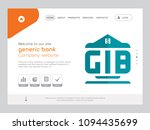 quality one page generic bank... | Shutterstock .eps vector #1094435699