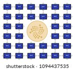 block chain technology of iota... | Shutterstock .eps vector #1094437535