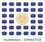 block chain technology of iota... | Shutterstock .eps vector #1094437535