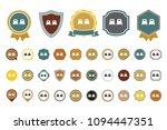 vector 2 bed  icon | Shutterstock .eps vector #1094447351