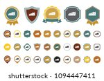 vector shoes  icon | Shutterstock .eps vector #1094447411