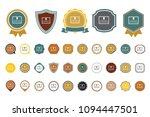 vector certificate  icon | Shutterstock .eps vector #1094447501