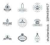unique perfume logo set. simple ... | Shutterstock .eps vector #1094454917