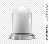 realistic transparent snowglobe ...   Shutterstock .eps vector #1094464724
