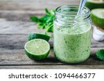 green salad dressing with... | Shutterstock . vector #1094466377