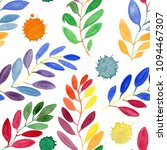 abstract watercolor leaves.... | Shutterstock . vector #1094467307