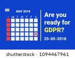 gdpr   general data protection. ... | Shutterstock . vector #1094467961