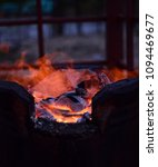 Flame In Charcoal Stove