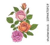 vintage vector floral... | Shutterstock .eps vector #1094470919