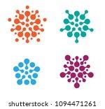flat modern connection dots...   Shutterstock .eps vector #1094471261