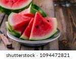 Fresh Ripe Sliced Watermelon O...