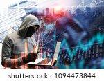 hacker man steal information   Shutterstock . vector #1094473844