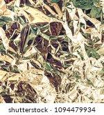silver crumpled foil metallic...   Shutterstock . vector #1094479934