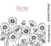 hand drawn wild hay flowers.... | Shutterstock .eps vector #1094479949