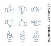 hands vector illustration thin...   Shutterstock .eps vector #1094484377
