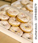 a lot of donuts in a box   Shutterstock . vector #1094488079