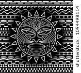 ethnic symbol mask of the maori ... | Shutterstock .eps vector #1094498114