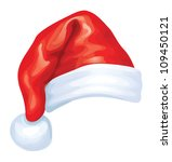 Vector Of Red Santa Claus Hat.