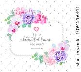 square floral vector design... | Shutterstock .eps vector #1094516441