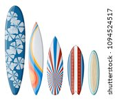 set of surfboards with original ... | Shutterstock .eps vector #1094524517